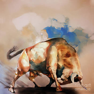 Painting - Bull Fighter Art 45hhty by Gull G