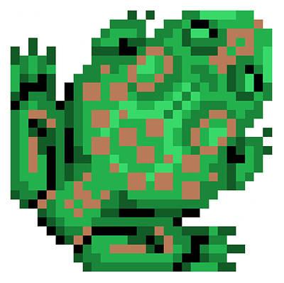 Digital Art - Bull Frog by Gerald Lynch