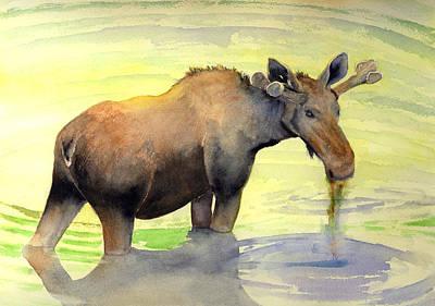Painting - Bull In Velvet - Glacier by Marsha Karle