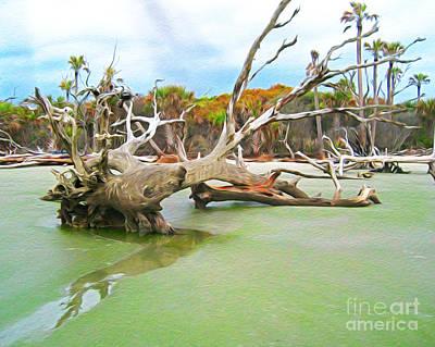 Digital Art - Bull Island Tree by Joseph Re