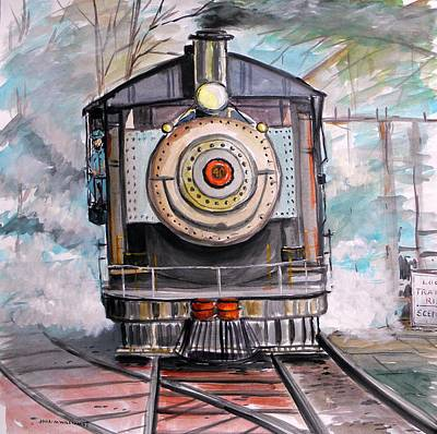 Art Print featuring the painting Bull Locomotive by John Williams