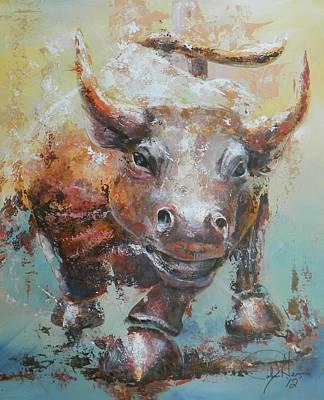 Bull Market Y Portrait Art Print by John Henne