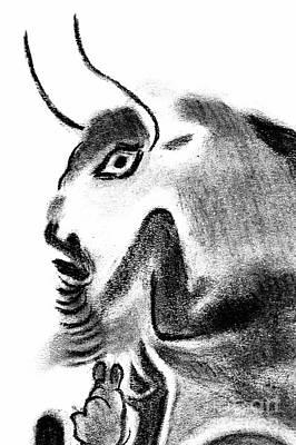 Animals Drawings - Bull by Michal Boubin