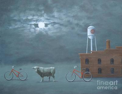 Painting - Bull Moon Ride by Phyllis Andrews
