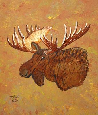 Painting - Bull Moose by Ralph Root