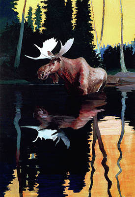 Painting - Bull Moose by Robert Wesley Amick