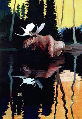 Bull Moose Print by Robert Wesley Amick