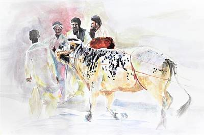 Painting - Bull Power by Khalid Saeed