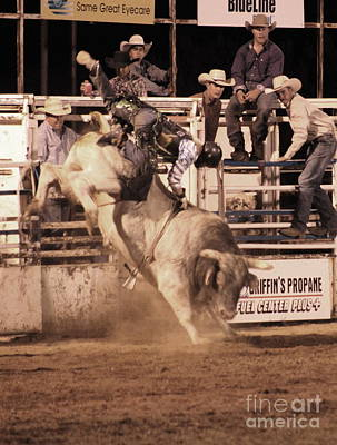 Photograph - Bull Riding 1 by Natalie Ortiz