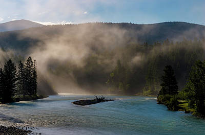 White River Scene Photograph - Bull River At Sunrise by Darcy Michaelchuk