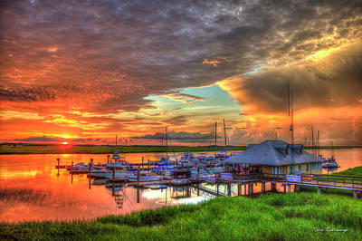 Photograph - Bull River Marina Sunrise 2 Sunrise Art by Reid Callaway