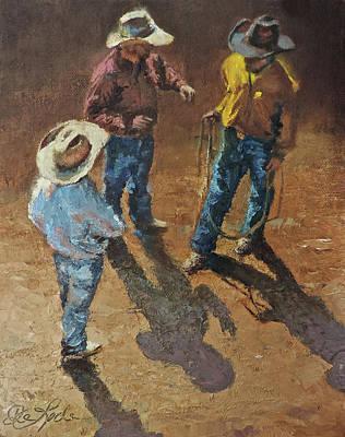 Bull Session Art Print