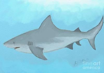 Digital Art - Bull Shark by Stacy C Bottoms