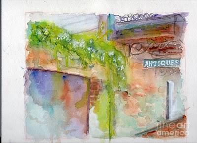 Wet On Wet Painting - Bull Street Savannah Ga by Doris Blessington