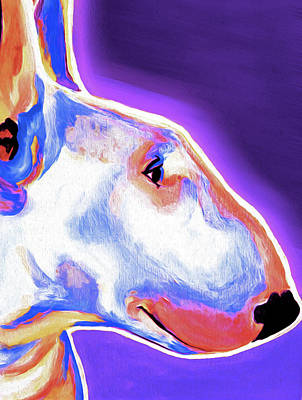 Bull Terrier Mixed Media - Bull Terrier 01 By Nixo by Nicholas Nixo