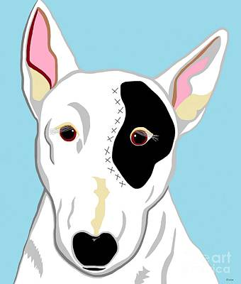 Terrier Digital Art - Bull Terrier by Eloise Schneider