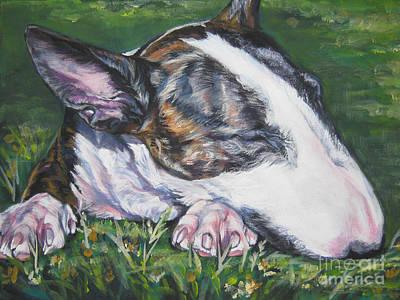 Bull Terrier Painting - bull Terrier by Lee Ann Shepard