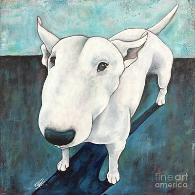 Spuds Painting - Bull Terrier by Stephanie Gerace