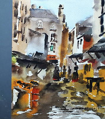 Painting - Bullalley, Dublin by Val Byrne