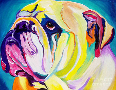 Colorful Art Painting - Bulldog - Bully by Alicia VanNoy Call