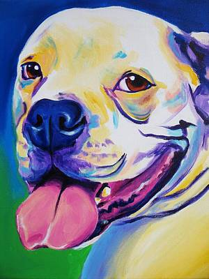 Dawgart Painting - American Bulldog - Luke by Alicia VanNoy Call
