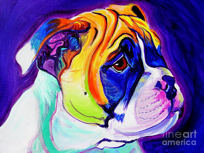 English Bulldog Painting - Bulldog - Pup by Alicia VanNoy Call