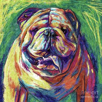 English Bull Dog Digital Art - Bulldog Abstract by Julianne Black