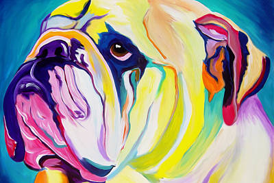 Colorful Dog Wall Art - Painting - Bulldog - Bully by Alicia VanNoy Call