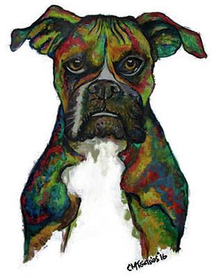 Painting - Bulldog by Carol Tsiatsios