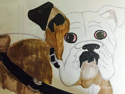 Drawing - Bulldog by Charita Padilla