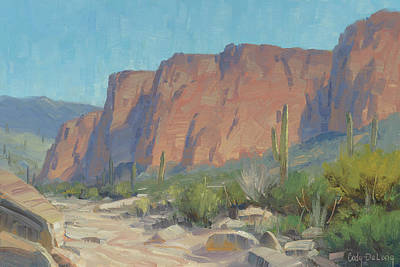 Arizona Painting - Bulldog Cliffs by Cody DeLong