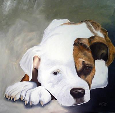 Bulldog Art Print by Dick Larsen