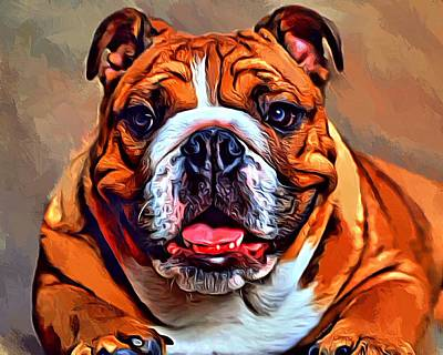 Pups Digital Art - Bulldog  by Scott Wallace
