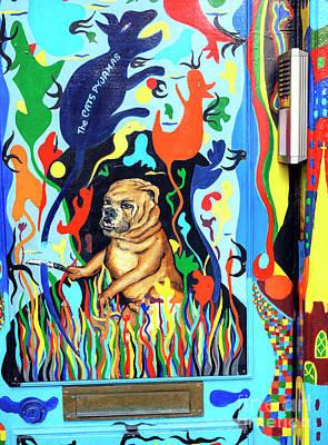 Photograph - Bulldog Door by John Rizzuto