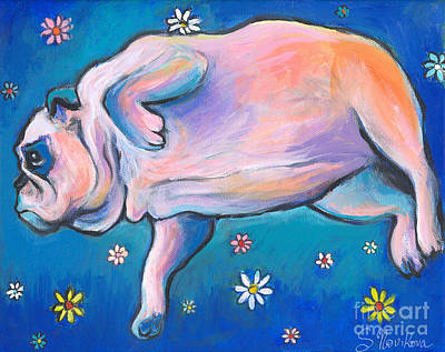 Bulldog Dreams Art Print by Svetlana Novikova