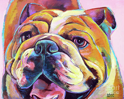 Painting - Bulldog Love by Robert Phelps