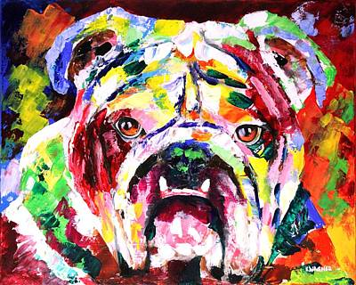 Painting - Bulldog Multicolors by Karl Wagner