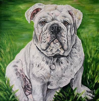 Georgia Bulldog Painting - Bulldog by Natalie Huggins