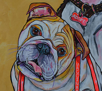 Bulldog Art Print by Patti Schermerhorn