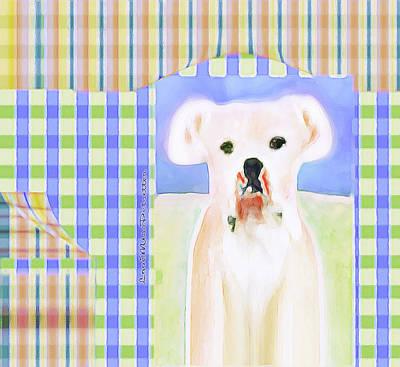 Digital Art - Bulldog Rana Art 40 by Miss Pet Sitter