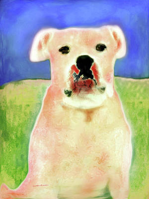 Digital Art - Bulldog Rana Art 45 by Miss Pet Sitter