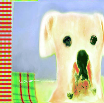 Buy Dog Art Digital Art - Bulldog Rana Art 49 by Miss Pet Sitter