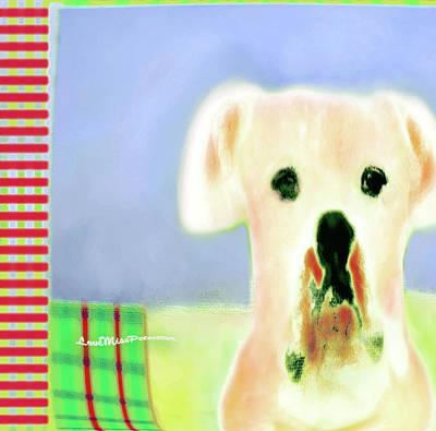 Buy Dog Art Digital Art - Bulldog Rana Art 50 by Miss Pet Sitter