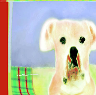 Buy Dog Art Digital Art - Bulldog Rana Art 52 by Miss Pet Sitter