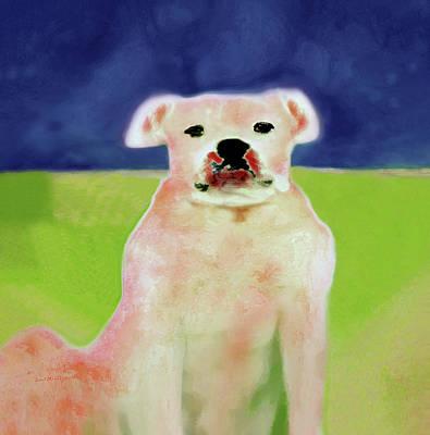 Digital Art - Bulldog Rana Art 53 by Miss Pet Sitter