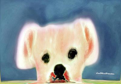 Digital Art - Bulldog Rana Art 54 by Miss Pet Sitter