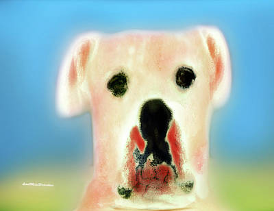 Digital Art - Bulldog Rana Art 57 by Miss Pet Sitter