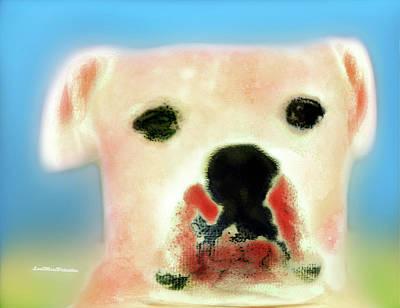 Digital Art - Bulldog Rana Art 58 by Miss Pet Sitter