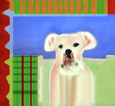 Digital Art - Bulldog Rana Art 63 by Miss Pet Sitter