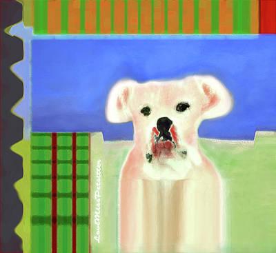Digital Art - Bulldog Rana Art 64 by Miss Pet Sitter
